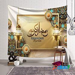 Eid mubarak wall arazzo islamic muslim ramadan art decor blanket curtain hanging home bedroom living room decoration oranament poliestere miniinthebox