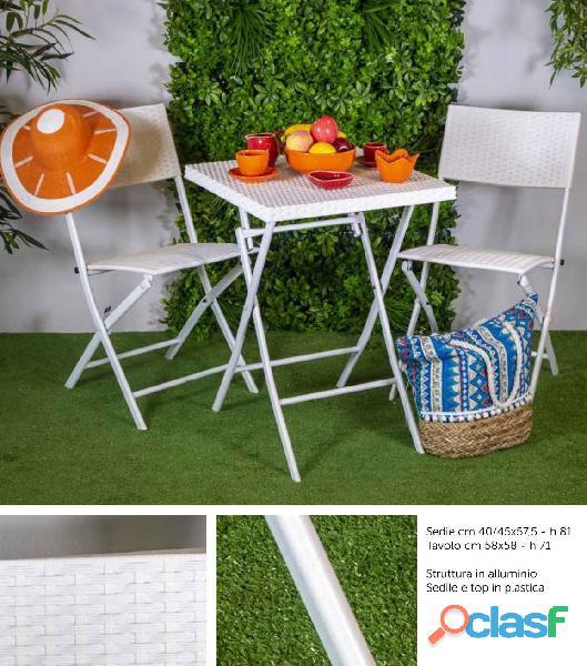 Set tavolo e 2 sedie da esterno nuovo art.6455510000 consegna gratuita arredamentishop.it