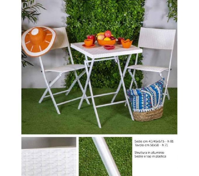 Set tavolo e 2 sedie da esterno nuovo art.6455510000 rieti - casalinghi - articoli per casa e giardino
