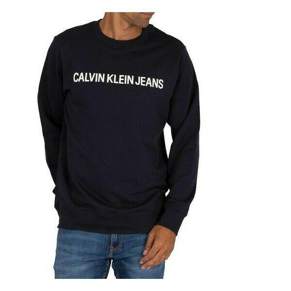 Felpa senza cappuccio uomo calvin klein core logo