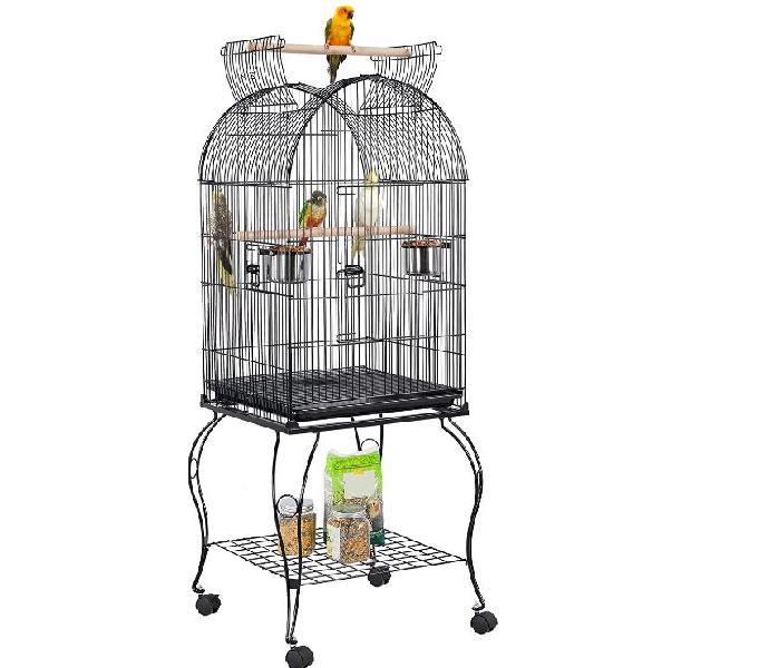 Gabbia per uccelli con carrello e tetto apribile roma - prodotti e servizi per animali