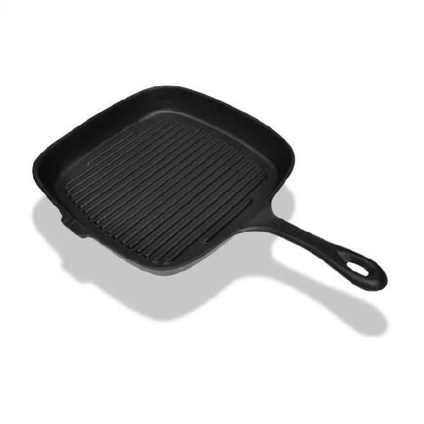 Vidaxl padella griglia in ghisa 24x23 cm