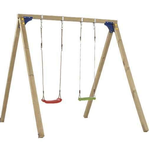 Altalena in legno a 2 posti per bambini