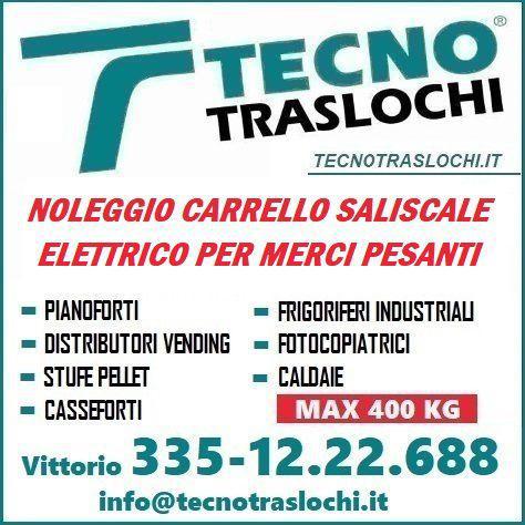 Noleggio carrello saliscale elettrico per merci pesanti