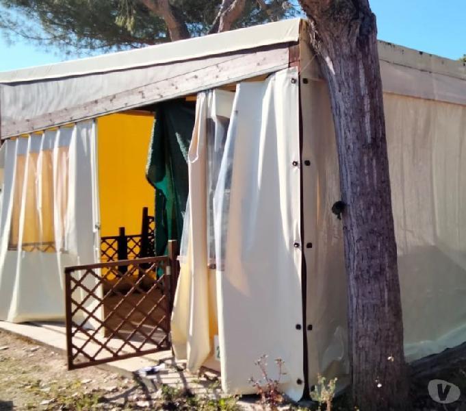 Gazebo legno scuro macerata - casalinghi - articoli per casa e giardino