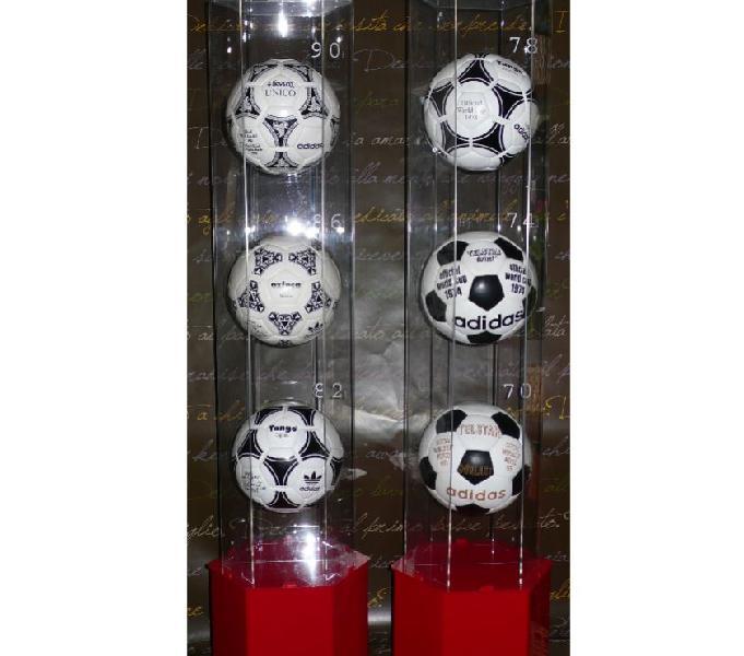 Palloni mondiali calcio originali serie storica 1970-1990 verona - collezionismo in vendita