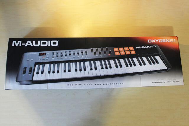 Tastiera midi controller usb m-audio oxygen 61