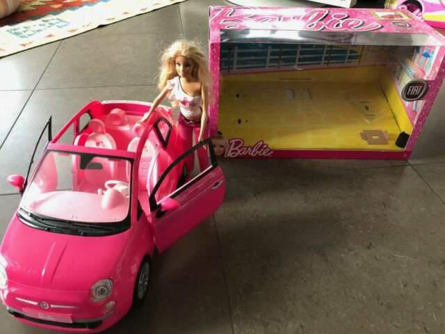 Barbie fiat 500 decappottabile rosa