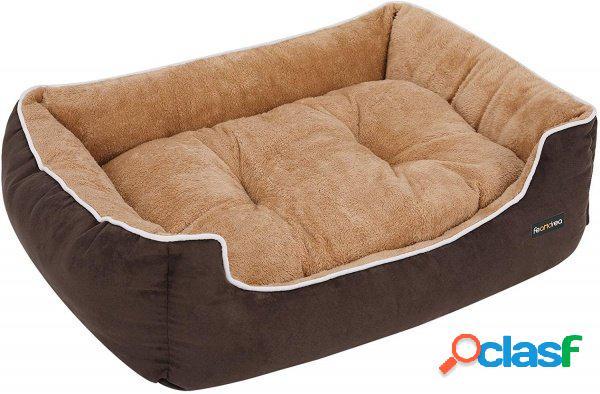 Cuscino cuccia lettino dog di pelliccia beige e brown taglia l