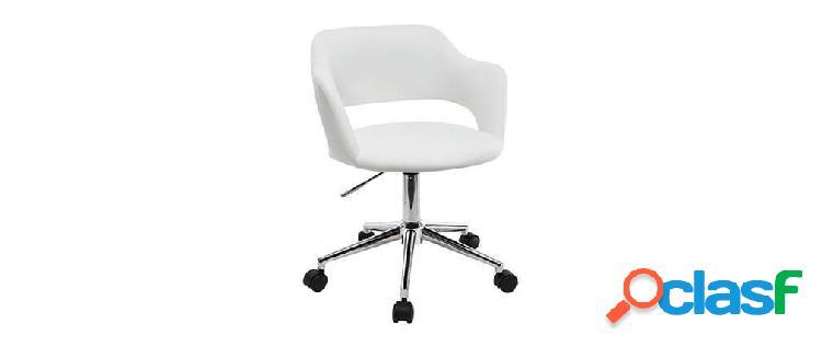 Sedia da ufficio design bianco jessy
