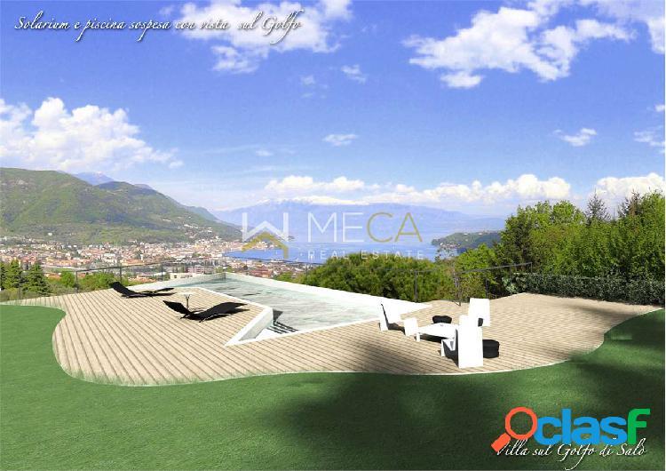 Saló, nuova villa con vista lago panoramica