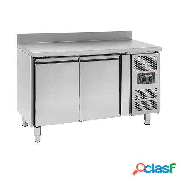 Tavolo refrigerato - 2 porte - alzatina - prof. 600 -2°c/+8°c - tropicalizzato