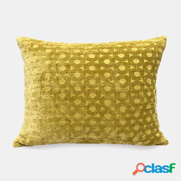 Tinta unita ciniglia geometrica jacquard cerchio divano cuscino ufficio pisolino cuscino camera da letto cuscino per aut