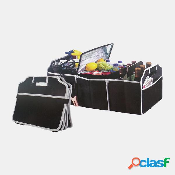 1pc borse portaoggetti per auto di grande capacità nere strumenti organizzatore contenitore per valigie scatola borsa po