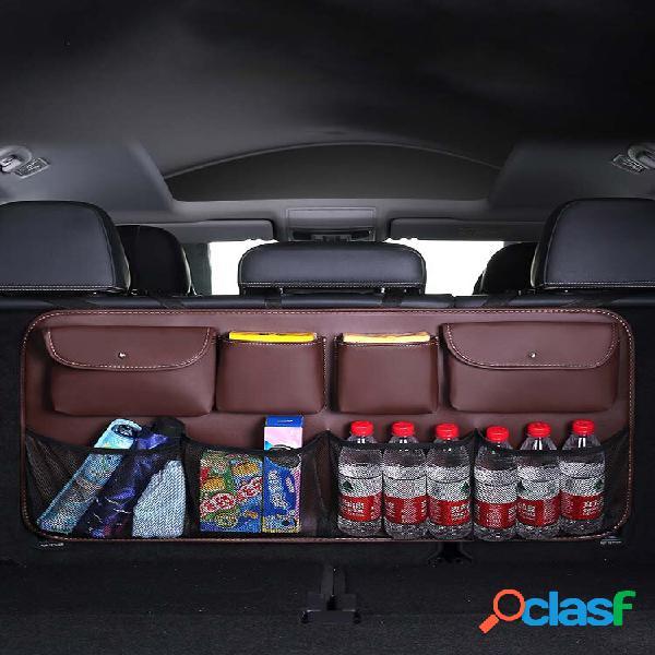 Vano portaoggetti per sedili posteriori in ecopelle borsa bagagliaio per auto multiuso organizzatore ripostiglio automat