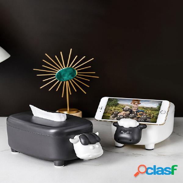 Carta semplice in bianco e nero scatola salotto pompaggio tessuto desktop domestico scatola