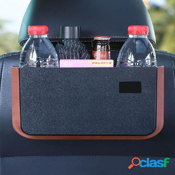 Portaoggetti pieghevole per auto organizzatore cestino da appendere con schienale impermeabile con tavolino comodo porta
