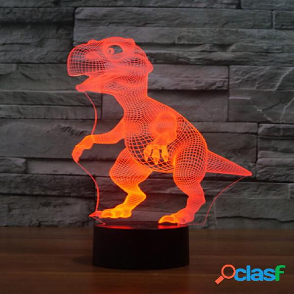 Dinosauro colorful 3d led luci usb batteria touch control night light gift home decor