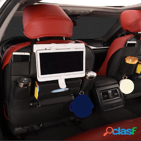 Portabicchieri multifunzionale in pelle pu per seggiolino auto posteriore portaoggetti organizzatore