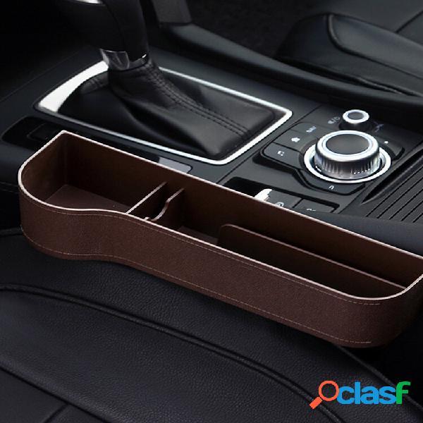 Portaoggetti per fessure per seggiolino auto sul lato sinistro in abs scatola moneta tasca portabevande organizzatore