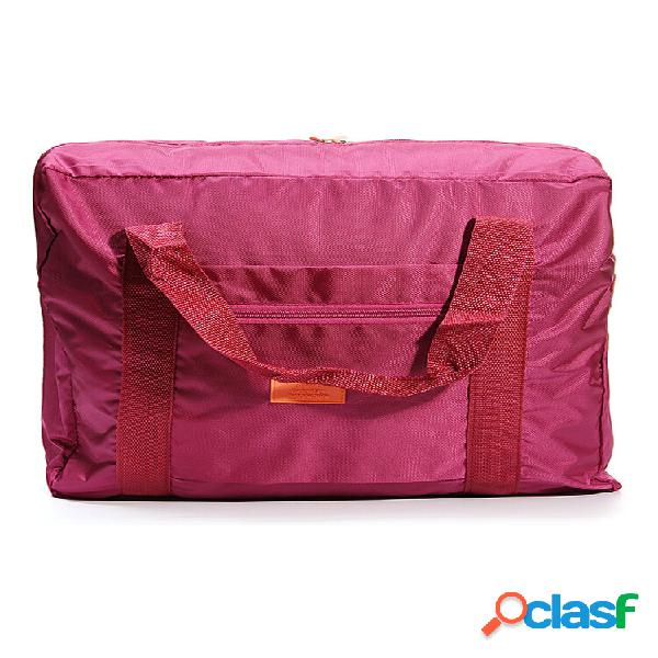 Grande nylon deposito bagagli da viaggio borsa vestiti impermeabili organizzatore contenitori portaoggetti