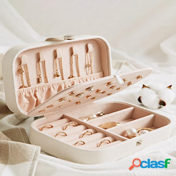 Gioielli con anello per orecchini display portaoggetti per la casa scatola custodia organizzatore supporto per vassoio i