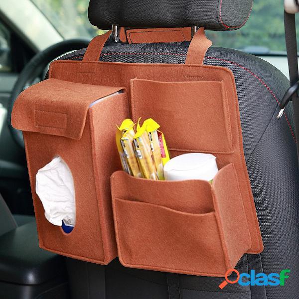 Portaoggetti posteriore per seggiolino auto in feltro borsa portabicchieri multi tasca per telefono organizzatore