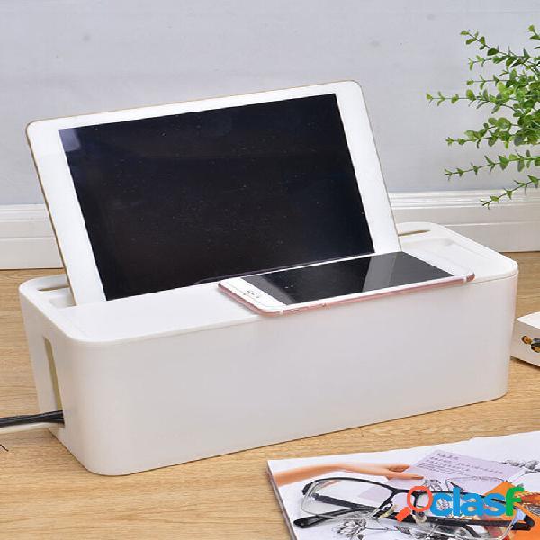 Custodia per cavi scatola custodia cavo di alimentazione per gestione cavi presa di corrente desktop di sicurezza organi