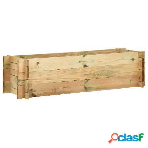 Vidaxl fioriera giardino letto vegetale in legno impregnato 120 cm
