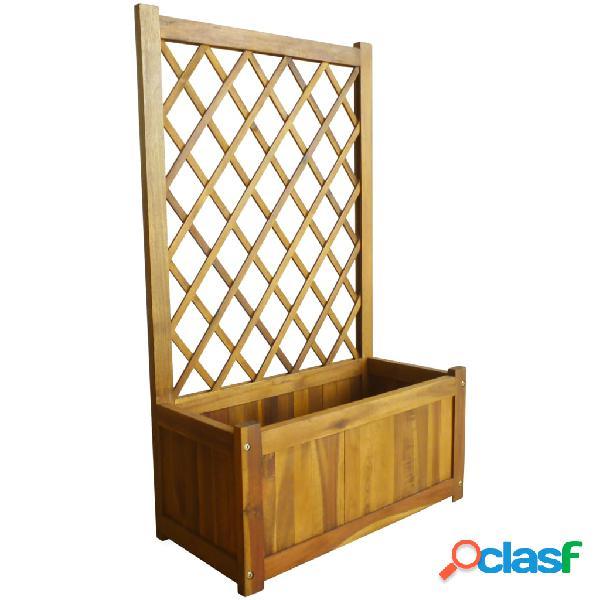 Vidaxl letto rialzato da giardino con graticcio in legno massello di acacia
