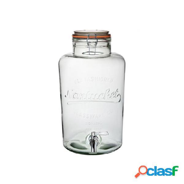 Vaso ermetico nantucket punch lt 8,5 - vetro - trasparente