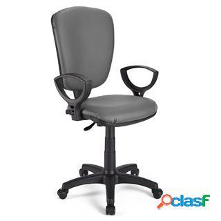 Sedia da ufficio calipso pelle in grigio