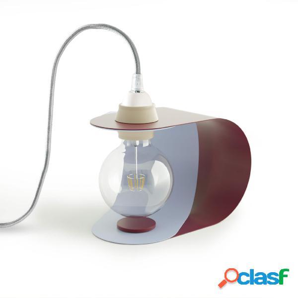 Lampada da tavolo pivot in acciaio verniciato, dimensioni 46x23xh 22 cm - attacco e 27, bicolor zen blu e purple
