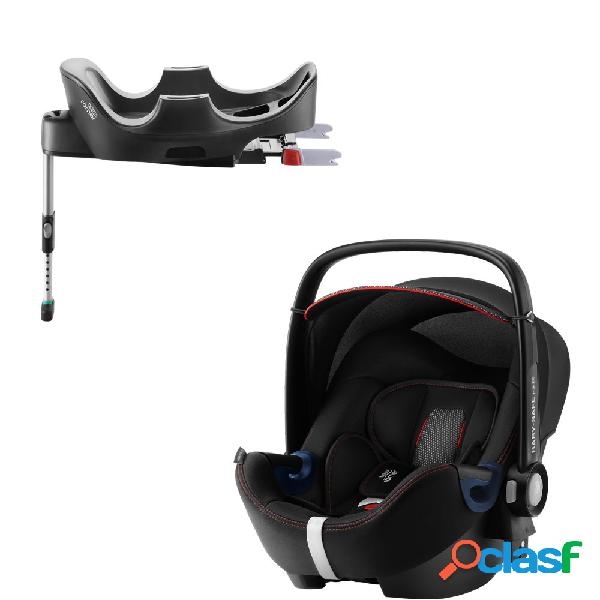 Seggiolino auto britax romer baby-safe 2 i-size cool flow black+base flex