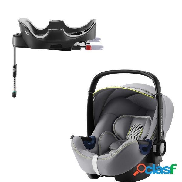 Seggiolino auto britax romer baby-safe 2 i-size cool flow silver+base flex