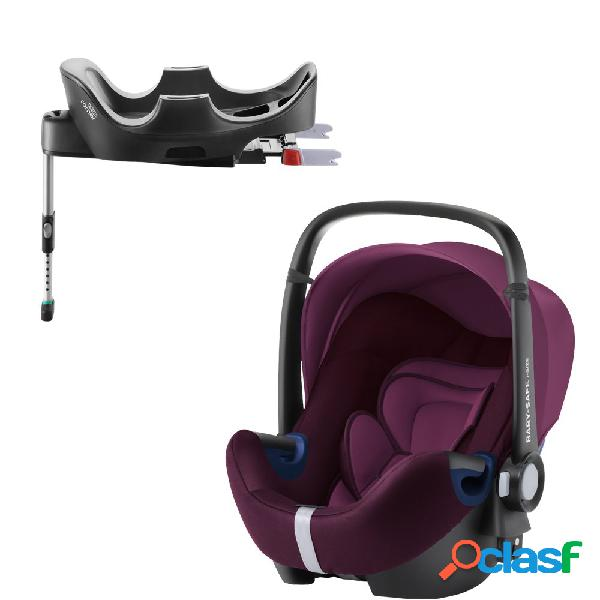 Seggiolino auto britax romer baby-safe 2 i-size burgundy red+base flex