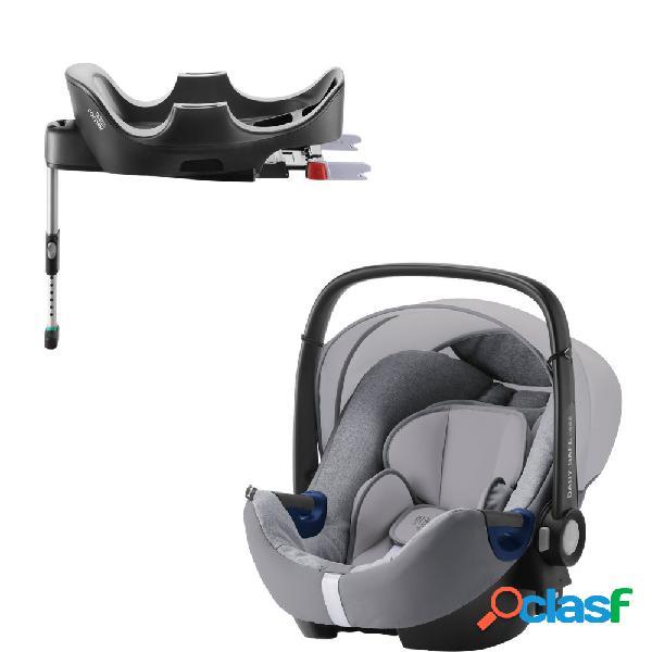 Seggiolino auto britax romer baby-safe 2 i-size grey marble+base flex