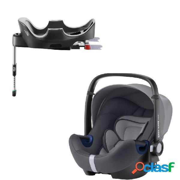 Seggiolino auto britax romer baby-safe 2 i-size storm grey+base flex