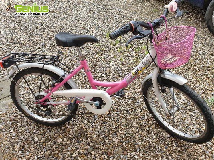 Bicicletta bambina ruota diametro 20, con cambio automatico,