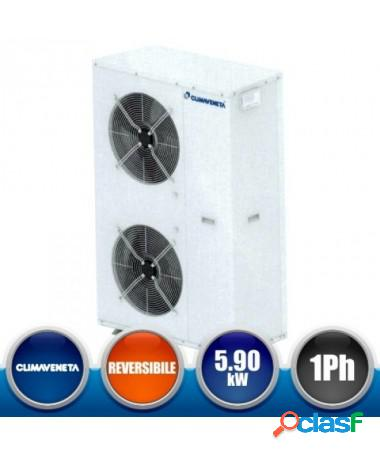 Pompa di calore minichiller climaveneta i-bx-n-006m con vaso espansione valvola di sicurezza, manometri e comando incluso