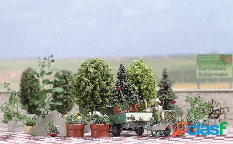 Busch 1211 h0 kit di fiori, piante, vasi e altri accessori