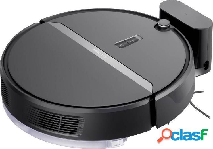 Roborock e4 black robot aspirapolvere gestito da app, compatibile con amazon alexa, compatibile con google home