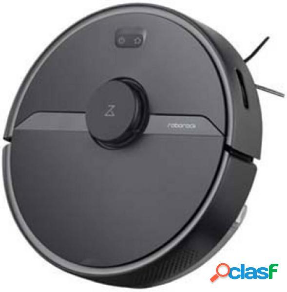 Roborock s6 pure black robot aspirapolvere nero comando vocale, telecomandabile, gestito da app, compatibile con amazon alexa, compatibile con google home