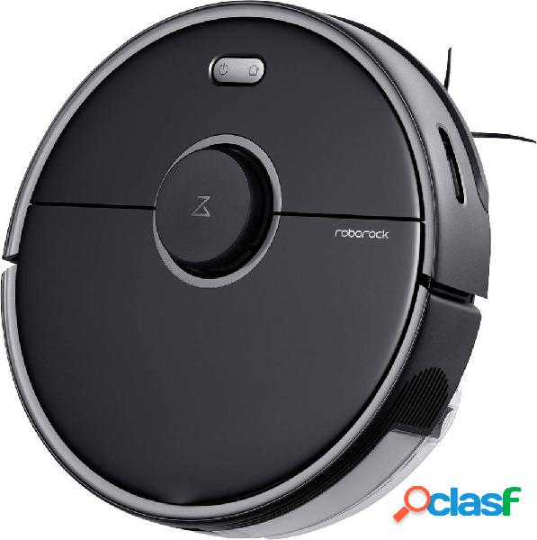 Roborock s5 max black robot aspirapolvere nero comando vocale, telecomandabile, gestito da app, compatibile con amazon alexa, compatibile con google home
