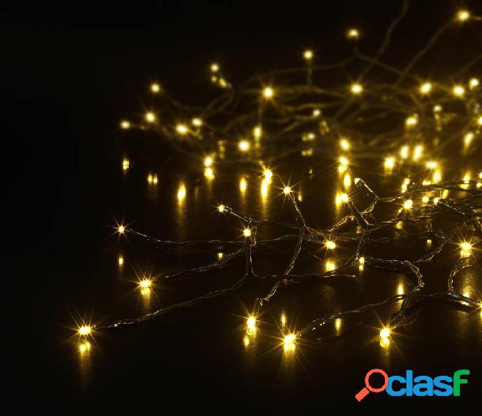 Sygonix mantello di luci led per albero interno/esterno 230 v/50 hz 120 smd led bianco caldo lampada regolabile