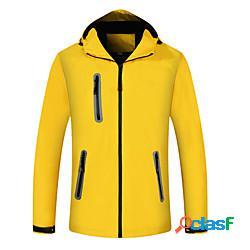 Per donna giacca da escursione giacca impermeabile da escursione giubbino anti-vento giacca di pelle felpa con cappuccio superiore esterno ompermeabile leggero antivento traspirante autunno p