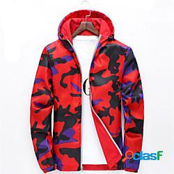 Per donna giacca da escursione giacca impermeabile da escursione giubbino anti-vento giacca di pelle felpa con cappuccio superiore esterno leggero traspirante asciugatura rapida autunno prima