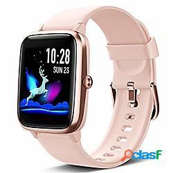 Orologio intelligente, monitor hr smartwatch touch screen completo, tracker del sonno, cronometro, orologio fitness impermeabile ip68 compatibile con ios, android per uomo, donna lightinthebo