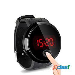 Per uomo orologio da polso orologio digitale digitale digitale semplice orologio resistente all'acqua schermo touch creativo / silicone / due anni lightinthebox