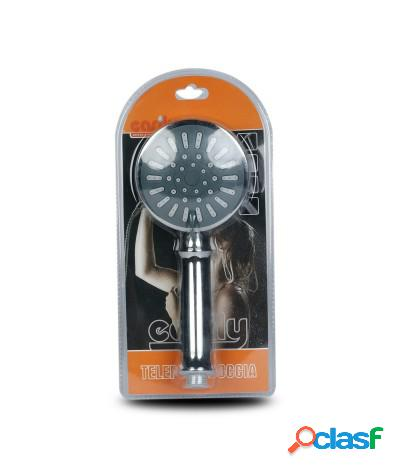 Soffione doccia con getto a pioggia regolabile diametro 12 cm j-e53-52045